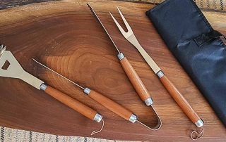 BBQ Grill Tool Set — Spatula - Tongs - Fork — Stainless Steel