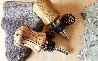 Bottle Stoppers – Stainless Steel – Assorted Woods