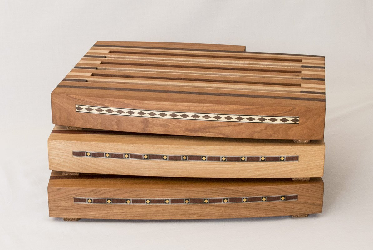 Breadboards with Knife and Tray — Front View