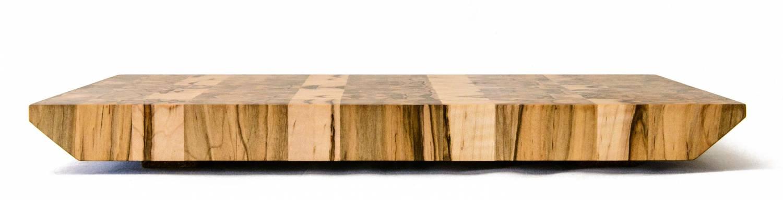 End Grain Serving Board — Ambrosia Maple — Profile View
