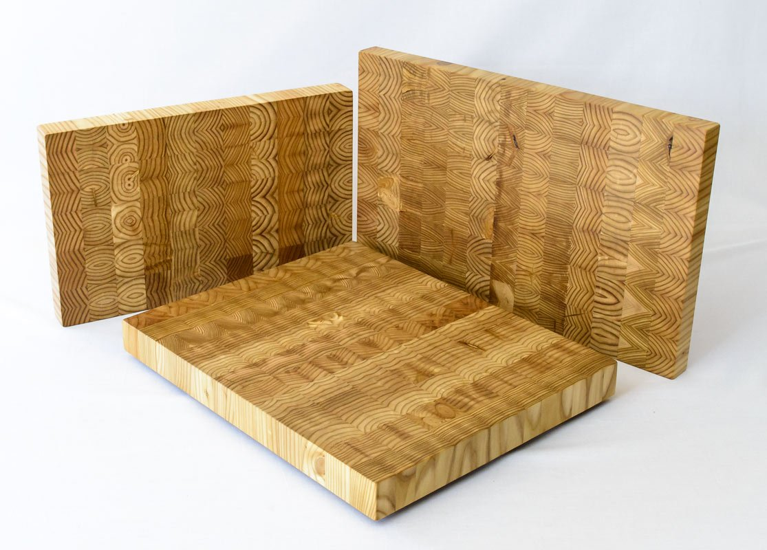 End Grain Juniper Cutting Boards - Different Sizes