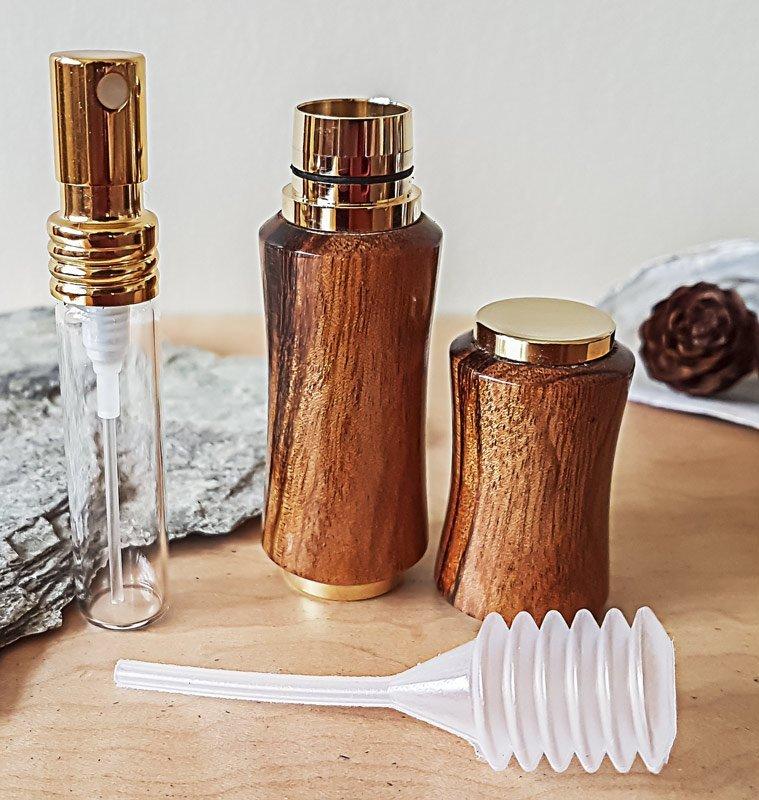 Perfume Sprayer – Titanium Gold — Glass Vial and Plunger