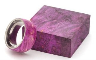 Stabilized Box Elder Burl — Purple