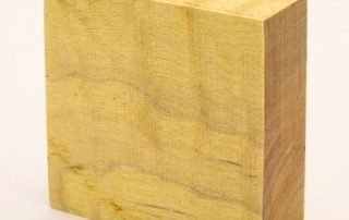 Stabilized Curly Maple — Yellow