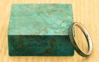 Stabilized Maple Burl — Blue