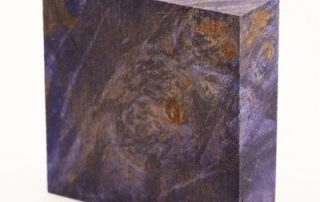 Stabilized Maple Burl — Purple