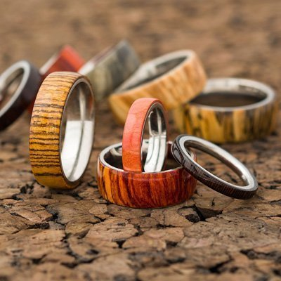 Wooden Rings l Solid Stainless Steel Ring Core