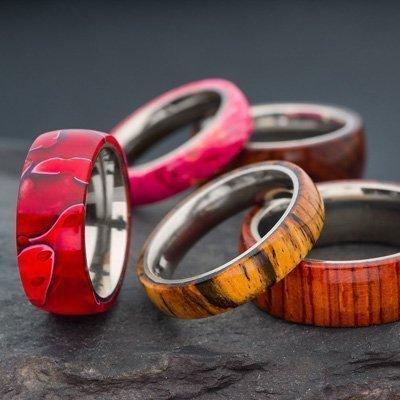 Wooden Rings l Titanium Ring Core
